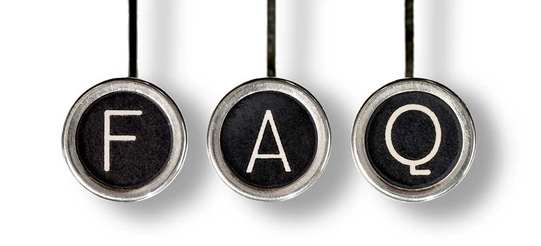 Old fashioned typewriter keys for the letters F, A and Q